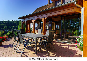 Beautiful guesthouse with terrace in Alsace, France Alpine...