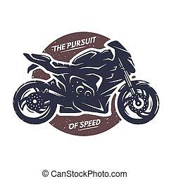 Sport superbike motorcycle emblem.