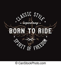 Plug and wings, the spirit of freedom. Emblem, t-shirt...