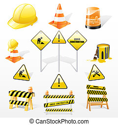 Under construction icons set - Vector set of under...