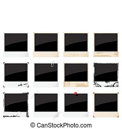 Empty instant photo frames - Set of vector empty instant...