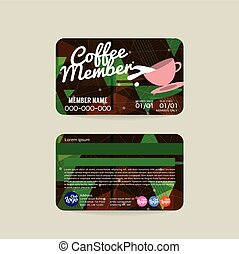 Coffee Voucher Of Member Card - Front And Back Coffee...