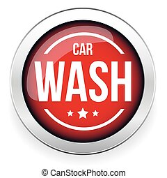Car wash button icon vector