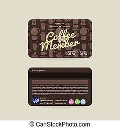 Coffee Voucher Member Card Template - Front And Back Coffee...