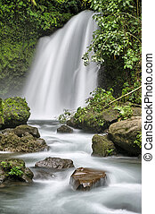 Waterfall, Arenal, Costa Rica - Waterfall on the slopes of...
