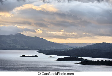 Lake Arenal from the slopes of the Arenal Volcano, Costa...