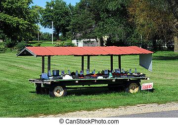 Entrepreneur Home Gardener - Fresh vegetables are sold at...