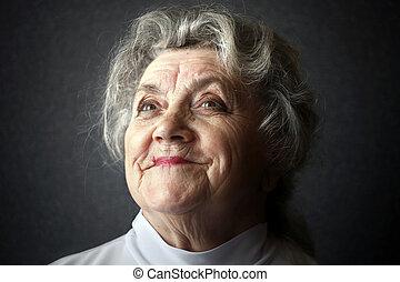 Happy old granny portrait