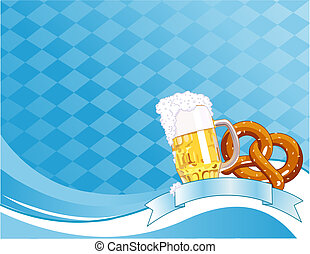 Oktoberfest Celebration Background with Copy space