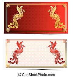 Chinese phoenix template - Chinese traditional template with...