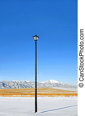 Highlights - Extremely tall street light serves as night...