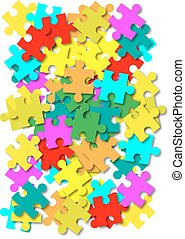 Abstract vector puzzle background