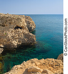 Sea shore with clear water