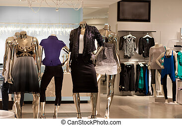 Fashion retail store in modern shopping mall