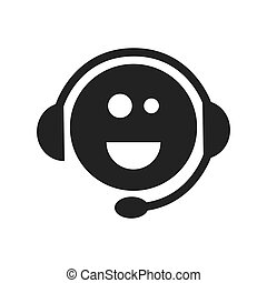 support headset face smiling - face smiling support sign...