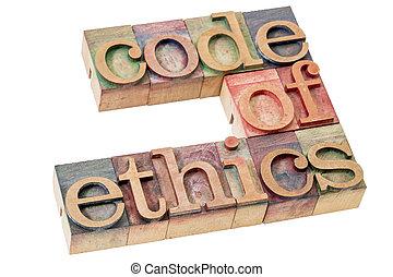 倫理學, 代碼, 詞, 摘要