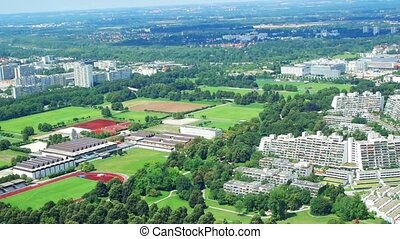 View of the Olympic village. Munich, Germany.