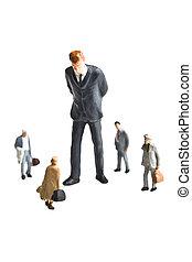 How big business sees the rest of u - Businessman figurine...