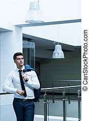 Sales representative in an office building - Elegant sales...
