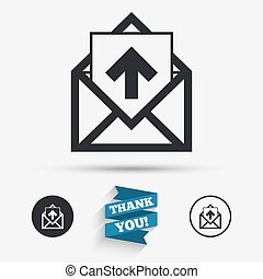 Mail icon Envelope symbol Outbox message sign - Mail icon...