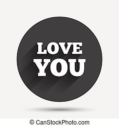 Love you sign icon. Valentines day symbol.