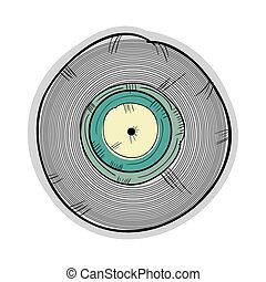 long play disc - long play with blue label. retro vinyl...