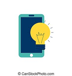 smartphone technology with seo icon