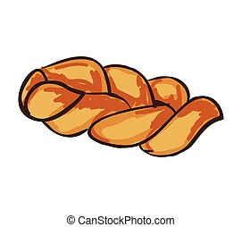 bread bakery food product. drawn design. vector illustration