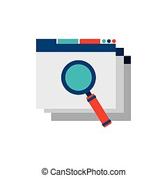 template web page with seo icon
