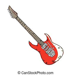 electric guitar musical instrument. traditional music...