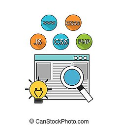 software programming language icons vector illustration...