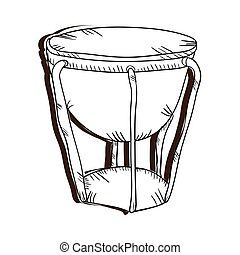 bongo drum musical instrument. traditional music element....
