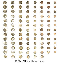 Vintage Euro coin money - Vintage looking Euro coins...