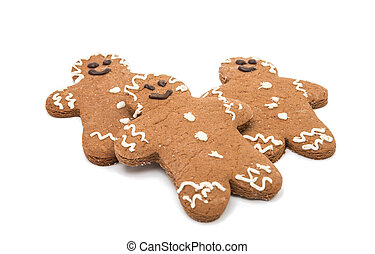 Christmas gingerbread man isolated