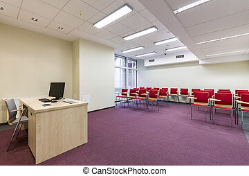 Modern lecture room