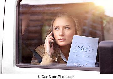 自動車, 女, ビジネス
