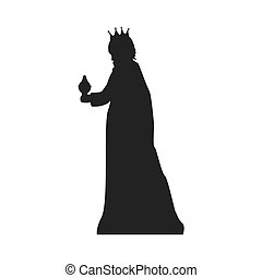 magi man king. christmas religious symbol. vector...