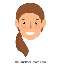 avatar woman cartoon