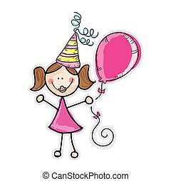 girl with party hat