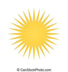 yellow sun shape - yellow sun geometric shape. weather...