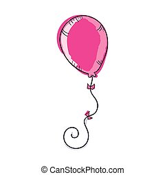 pink balloon party decoration