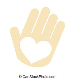 hand with heart shape