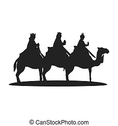 magi with camel - Three Wise Men on camels. christmas...