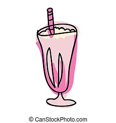 strawberry milkshake drink
