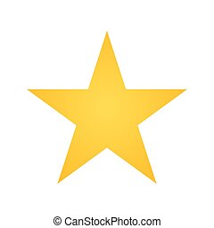 yellow star shape - yellow star geometric shape icon. vector...