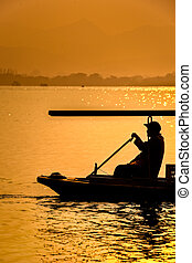 Rowing boat in China