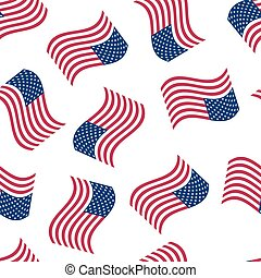 Seamless background with the American flag