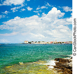 View of Porec from the Sea. Croatia Travel. - General View...