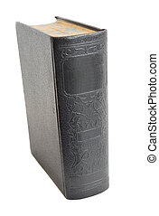 Antique Hardcover Book isolated on White - Very old...