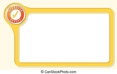 Vector frame for your text and check box
